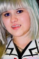 Vampire Knight fangs headshot by MyCosPlayPhotos