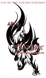 Into The Fire Wolf Tribal Design by WildSpiritWolf