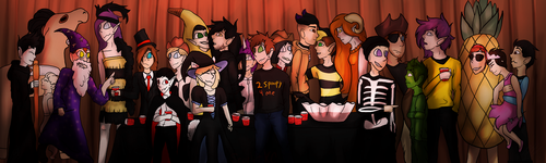The Halloween Party 2018 by ScarletKittyCat
