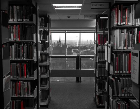 Seeing Red in the university library by Johnt447