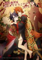 Happy birthday to Fushimi saruhiko by kenwntanabata