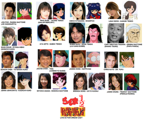 Ranma 1_2 Live Action Cast by BlueWolfRanger95