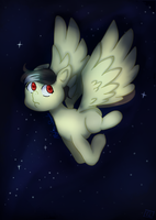 Diving through the night sky + (MLP account link) by El-Chaan