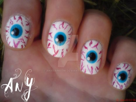 Eye Nail Design by AnyRainbow