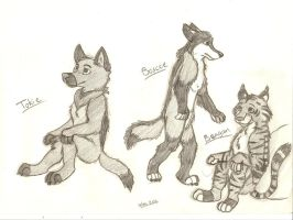 Character sketches by BoscoeXTokie