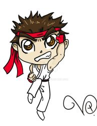 Chibi Ryu by QueenLionz