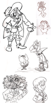 Jul' '15 sketches by Granitoons