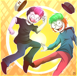 Mikiplier and Fritzsepticeye by N-SteiSha25