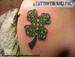 celtic clover tattoo by Michael-Kaminski