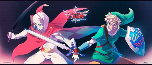 LOZ Skyward Sword: Link VS Ghirahim by moxie2D
