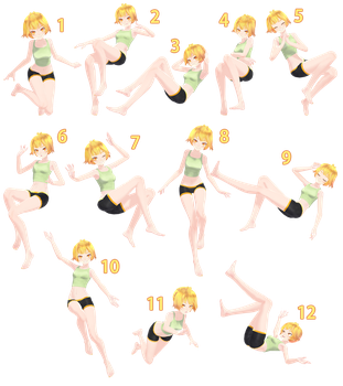 [MMD] Floating Pose Pack - DL by Snorlaxin