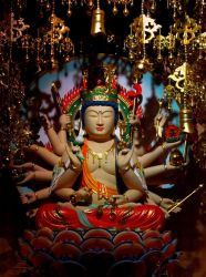 Guanyin statue by Hell-o-Z