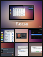 GTK3+Gnome Shell - Faience by tiheum