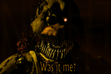 Nightmare Chica and carl(the cupcake) by FlutterDragon23