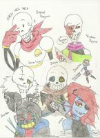 Undertale and other AU by ChloeGeek
