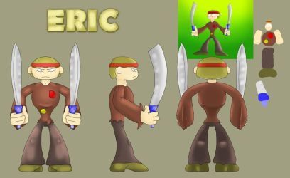 OG character alteration #1: ERIC (pose and model) by DerekminyA