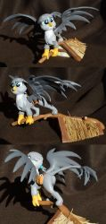 Gabby the Gray Griffon Gazing at Griffonstone by PrototypeSpaceMonkey