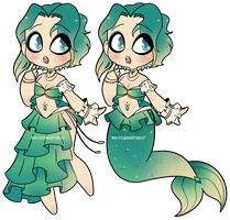 [CLOSED] Mermaid Queen $14 PayPal OR 1400 Points by WhiteStarAdoptables