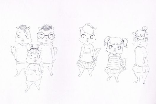chipmunks AND chipettes by aira613