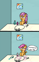 ATG Day 12-Scootaloo's Makeover by EROCKERTORRES