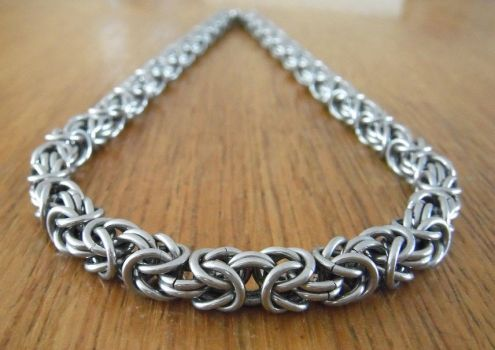 Byzantine chain necklace by unreal-hunter