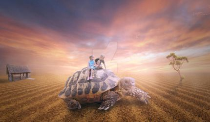 Let's ride a turtle... by Erald17
