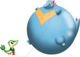 Totodile inflated by Darlaltonthebearcat