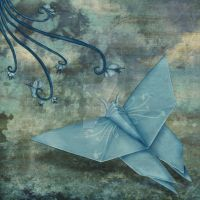Origami Butterfly by MagpieMagic