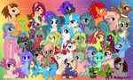 Tentacle Pony Group Wall Paper Gen2. by mea0113
