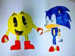 Sonic and Pac-Man by SuperSmash6453