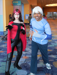 Classic Scarlet Witch and MCU Quicksilver III by R-Legend