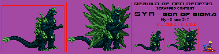 RoNG Content - Syn, Topaz Godzilla by SpaceG92