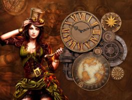 Steampunk Fashion Gear Widget (animated) xwidget by Jimking