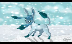 Glaceon soul of winter by RonTheWolf