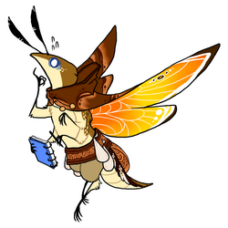 Moth Mage by Pyrrhociconia