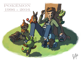 Pokemon 20th anniversary by Speedialga
