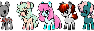 PRICE LOWERED Pony Adopts 2 (OPEN) by SpaceReame