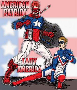 American Patriot And Lady America by spake759 by jamesewelch