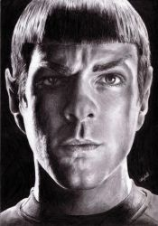 Spock- Zachary Quinto by Syntheta-NZ