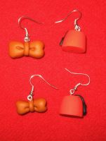 Fez and Bow Tie 1 earrings by StregattaPuponzi