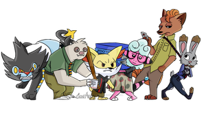 Zootopia x Pokemon
