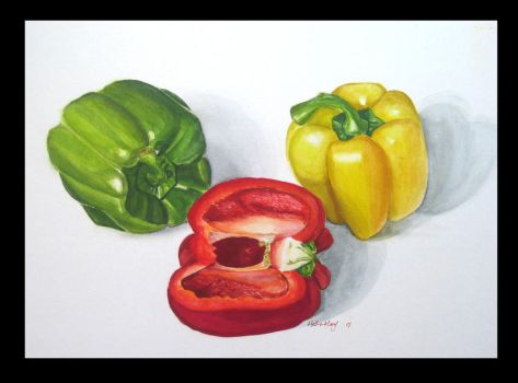 + sweet peppers + by Hell-o-Mary