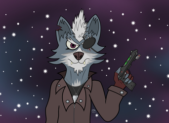 A Wolf In Space by Landmark520