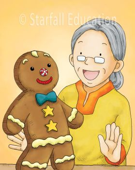 Gingerbread Boy Book Cover Illustration by manosanai
