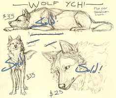 Wolf YCHs 2 (All sold!) by Canis-ferox