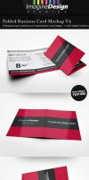Folded Business Card Mockup V2 by idesignstudio