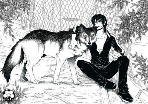wolf and werewolf. by MILIMOR