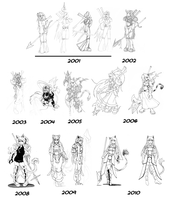 Aryssa over the years by HolyLancer9