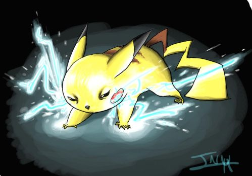 Evil Pikachu by Ruki-fan