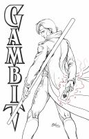 Gambit line-art by Oshouki
